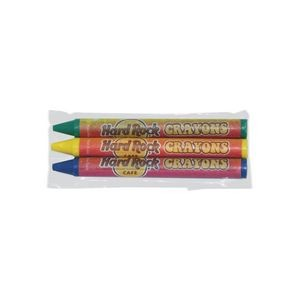 3 Pack Custom Crayons in Cello Wrapper