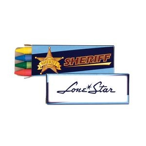 Sheriff 4 Pack Themed Crayons