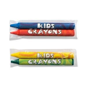 2 Pack Cello Wrapped Crayons