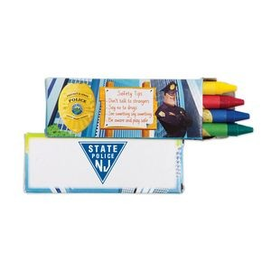 4 Pack Police Safety Crayons