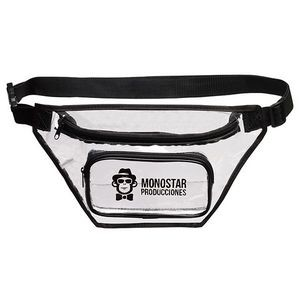 2 Zippered Clear Fanny Pack
