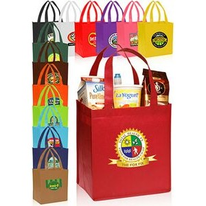 "Value Non-woven Grocery Tote Bags (12""x12.75"")"
