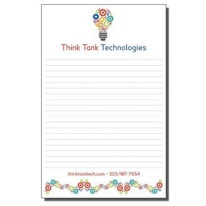 "5 1/2"" x 8 1/2"" Full-Color Notepads - 25 Sheets"
