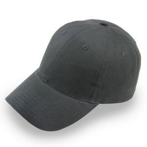 6 Panel Light Brushed Cotton Twill Baseball Cap